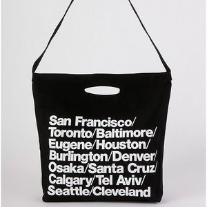 American Apparel Oversized Cities Tote Bag